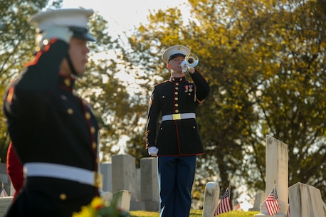 The wreath laying ceremony is an annual event held to celebrate the U.S. Marine Corps' birthday and honor those who gave the last full measure of devotion to country and Corps. (U.S. Marine Corps photo by Lance Cpl. Allen Sanders)