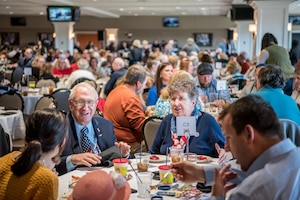 Gold Star family members participate in a day of fellowship and healing at the tenth annual Survivors Day at the Races at Churchill Downs in Louisville, Ky., Nov. 3, 2019. The event is designed to recognize the surviving family members of military service members who have given their lives in defense of our nation. (U.S. Air National Guard photo by Staff Sgt. Joshua Horton)
