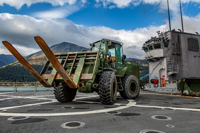 Marines with 7th Engineer Support Battalion participate in Arctic Expeditionary Capabilities Exercise 2019.