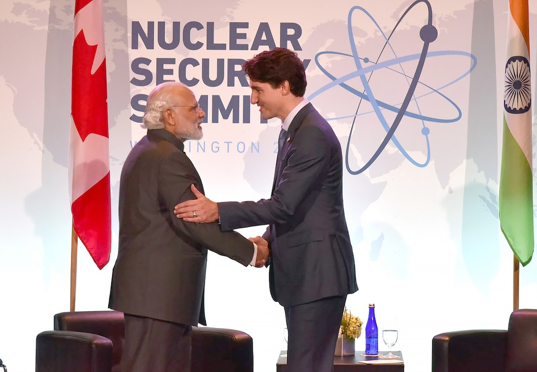 Indian Prime Minister Narendra Modi meets with his Canadian