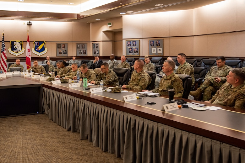 The Eleventh Air Force holds a two-day workshop for its senior enlisted leaders and civilians at Joint Base Elmendorf-Richardson, Alaska, Nov. 6, 2019. More than 40 attendees from Alaska, Hawaii and Guam discussed topics on resiliency and best practices in operating a wing.
