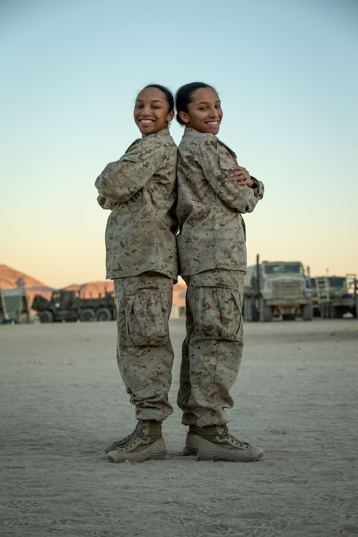 Together since birth: Marine twins participate in MWX