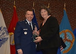Commander presents award to Hall of Fame inductee