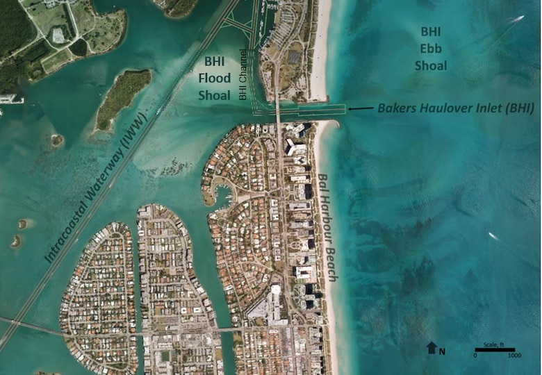 Bal Harbour dredging and sand source aerial