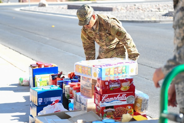 Created two years ago by the 926th Airman and Family Readiness Center, the food pantry serves to assist Reserve families with basic food items in times of need.