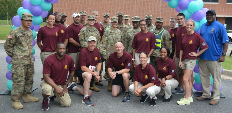 The 94th Training Division-Force Sustainment, 2nd Brigade Headquarters and Headquarters Company hosted an inaugural 5K run on Fort Lee, Virginia, Sept. 14, 2019. The event was designed to raise suicide awareness among our nation's service members and to encourage those contemplating suicide to seek support from fellow service members, friends, and loved ones, along with using various military resources in a time of need or when in the midst of trials and tribulations.