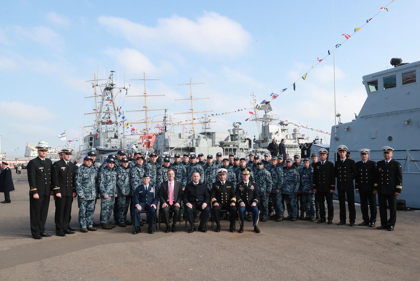 U.S. 6th Fleet turns over former Coast Guard cutters to Ukrainian Navy