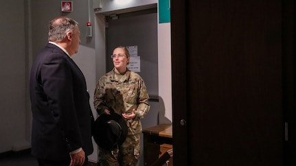 Secretary of State Mike Pompeo visits 2nd Cavalry Regiment