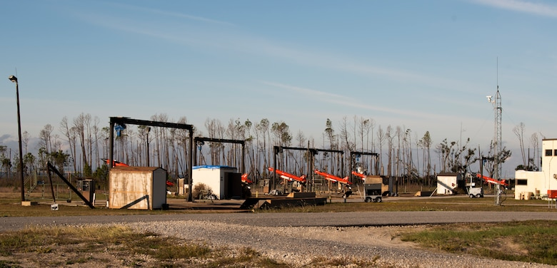 Several BQM-164 unmanned drones prepare to launch in support of exercise Checkered Flag 20-1 at Tyndall Air Force Base, Florida, Nov. 13, 2019. Checkered Flag is a large-scale exercise involving multiple military partners and installations, designed to focus on training and evaluating fourth and fifth-generation fighter aircraft, pilots and maintainers. In conduction with the exercise, air-to-air and air-to-ground combat operations are tested and recorded to provide data on best practices and ensuring future mission successes. (U.S. Air Force photo by Staff Sgt. Magen M. Reeves)