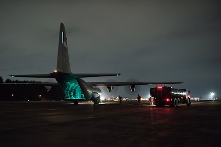 374th Logistics Readiness Squadron POL Airmen Practice Wet Wing Defuel