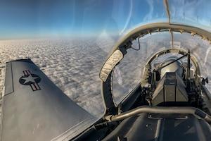 Pilot flies his plane over Vance Air Force Base