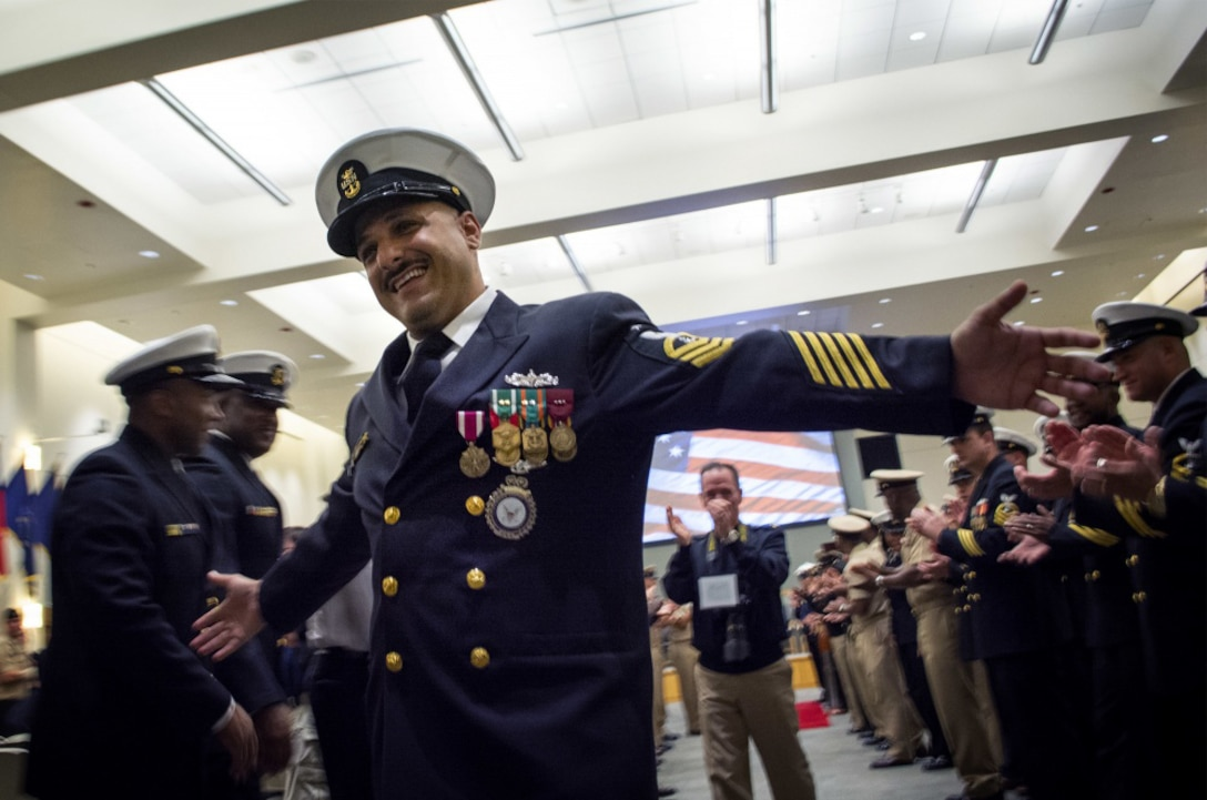 Man retires from Navy.