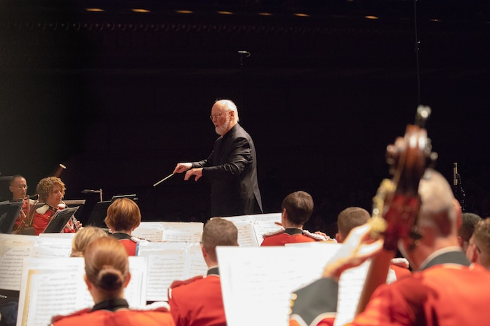 """Maestro John Williams guest conducts """"The President's Own"""" in Los Angeles on the band's 2019 West Coast Tour."""