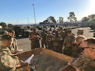From 7 October to 31 October 2019, the Battalion conducted a Road March of all tactical vehicles. Marine NCOs conduct sand-table convoy briefs to their junior Marines and led the execution of convoys through Camp Pendleton training areas.