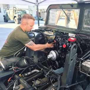 From 4 September to 20 September 2019, Marines of 9th Communication Battalion conduct their quarterly Maintenance Reset of tactical vehicles, weapons, and communications equipment in preparation for upcoming field exercises.