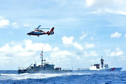 U.S., Kiribati Conducts Training Exchange at Sea in Pacific on USCGC Stratton's Return to U.S.