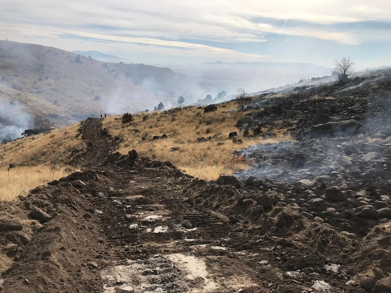 Eagle Mountain Fire Department and Unified Fire Authority responded to a fire at Camp Williams that started downrange at approximately 11 a.m, Nov. 18, 2019.