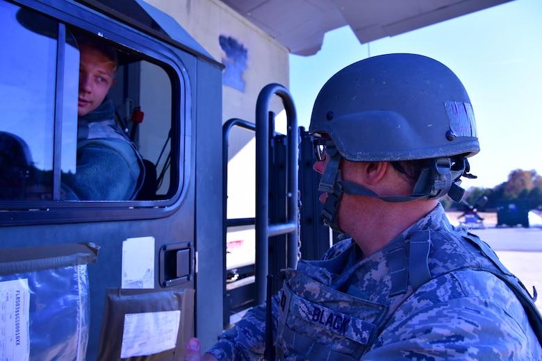 Airmen shake hands