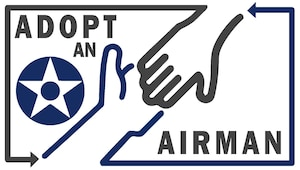 A graphic for the Adopt-an-Airman program at Malmstrom Air Force Base.