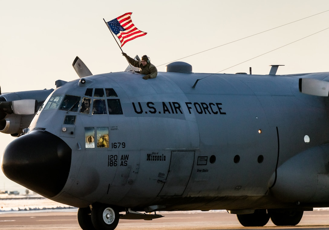 Friends, coworkers and family members await the return of 120th Airlift Wing Airmen who spent the last four months in Southwest Asia, Nov. 8, 2019.