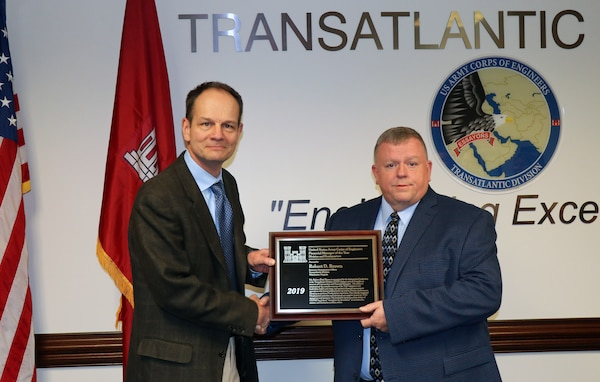 Pete Brown was selected as the USACE 2019 Financial Manager of the Year.