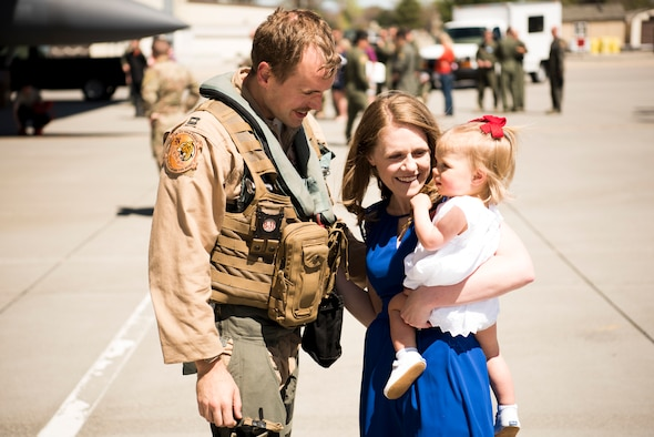 Photo of military family used for Month of the Military Family commentary
