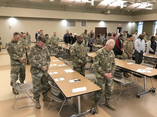 Change of stole ceremony welcomes new USACAPOC(A) chaplain