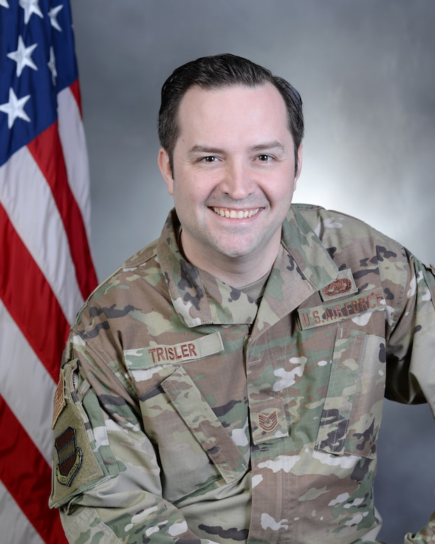 Tech. Sgt. Daniel Trisler is the current executive for the 55th Wing command chief at Offutt AFB. Trisler recently re-enlisted in the active duty Air Force after a stint in the Air National Guard.