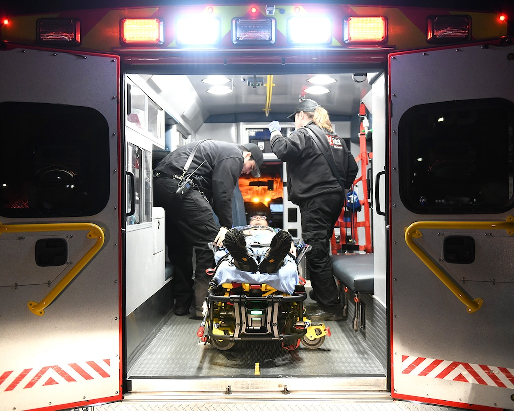 Buckley AFB tested capabilities with off-base agencies to provide support in first response, patient transport, as well as providing opportunities for further training objectives for local agencies
