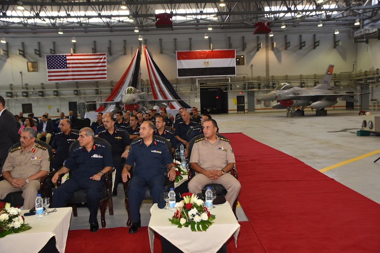 A September ceremony marking the final delivery of 20 F-16s and completion of $184 million construction project at Cairo West Air Base, Egypt.