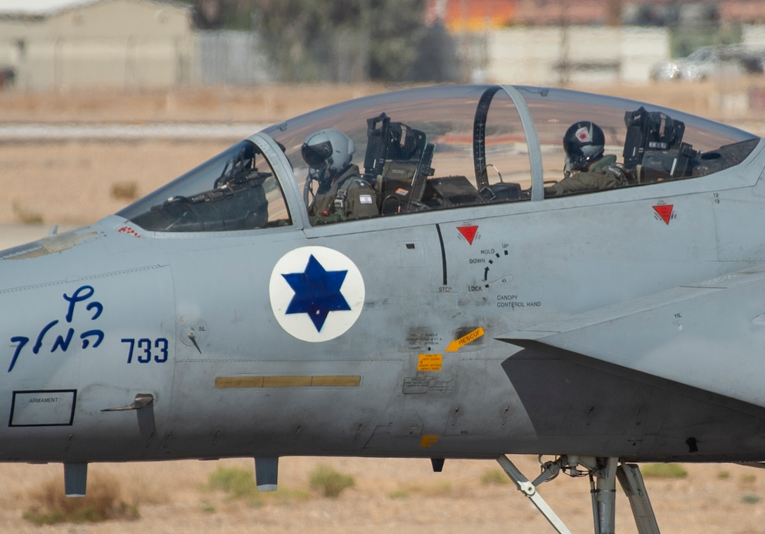 An Israeli air force F-15I Ra'am taxis down the runway during Blue Flag 2019 at Uvda Air Base, Israel, November 4, 2019. The U.S. and Israel have a strong and enduring military-to-military partnership built on trust and developed over decades of cooperation. (U.S. Air Force photo by Airman 1st Class Kyle Cope)