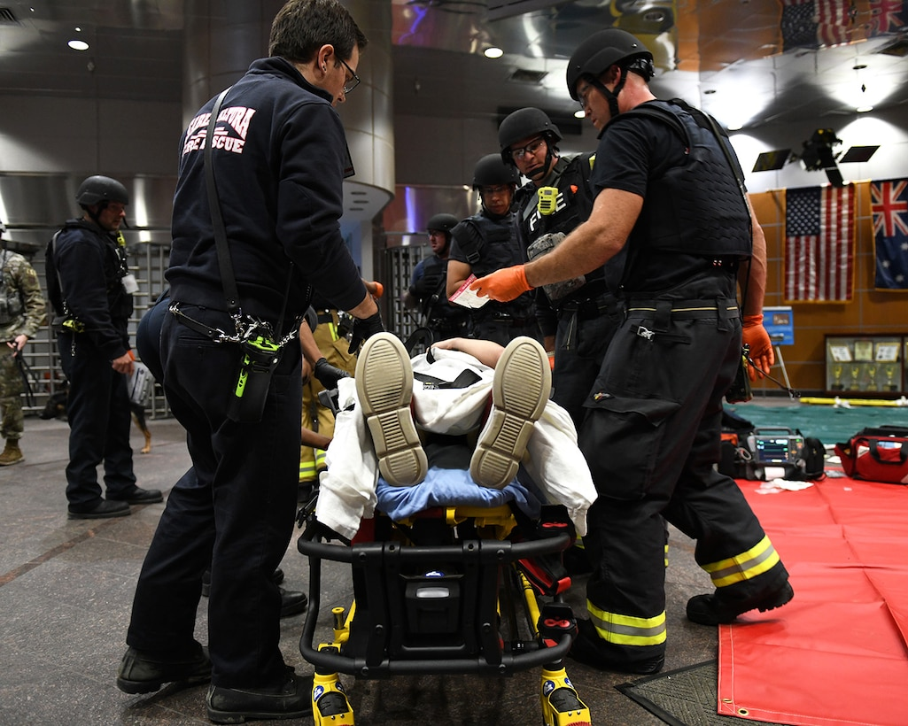 Buckley AFB's first responders reacted quickly to a simulated mass-shooting situation which tested their familiarity with procedures and effectiveness