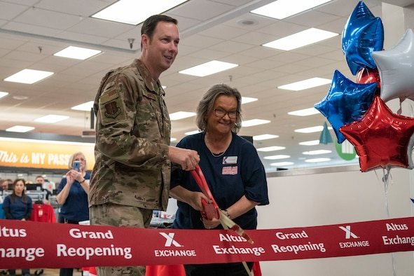 The Altus Air Force Base Exchange hosts its grand reopening.