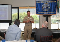 Capt. Hembree-Bey spoke at this afternoon's AFCEA San Diego Chapter luncheon