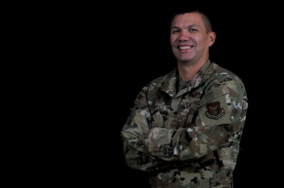 Chief Master Sgt. Nathan Parks, 726th Operations Group superintendent, Nellis Air Force Base, Nevada, hopes telling his story will help equip, empower or inspire other people in their own resiliency journey. (Airman 1st Class William Rosado)