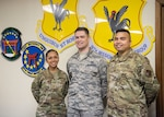 From left, Master Sgt. Joy McCammon, 718th Force Support Squadron casualty operations section chief, Staff Sgt. Alexander Nestle, 18th Communications Squadron software development supervisor, and Tech. Sgt. Christopher Sills, 18th CS NCO in charge of application development, stand for a photo at Kadena Air Base, Japan, Nov. 19, 2019. They are part of the PRAS team named as one of two U.S. Pacific Air Forces Spark Tank nominees to compete at the Air Force level.