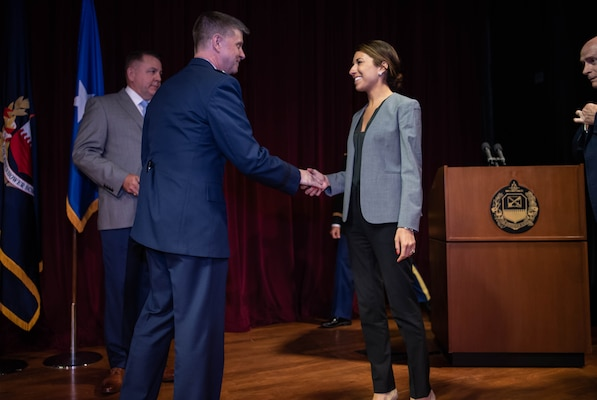 The Eisenhower School Awards Ceremony, held ing Baruch Auditorium on June 10, 2019. Vice Admiral Fritz Roegge, NDUP, was in attendence.