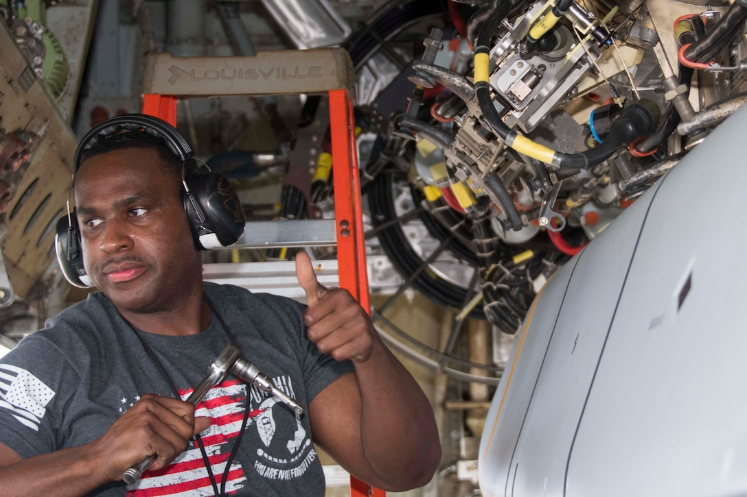 Charles Wilson, Jr., an Air Reserve Technician assigned to the 307th Aircraft Maintenance Squadron.