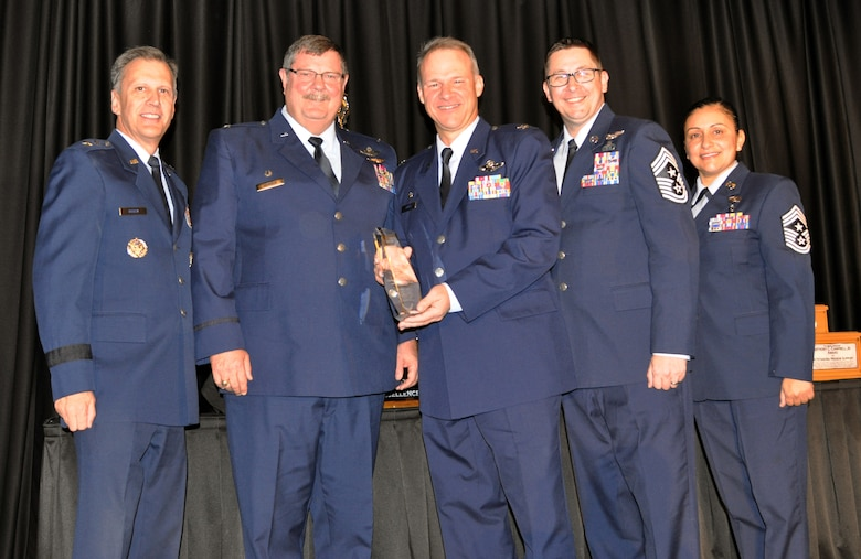 The 315th Airlift Wing's Operations Group won the Aircrew Excellence Award for its support of the movement of a Coast Guard HH-65 from Panama to its forward operating location on the island of Curacao. (U.S. Air Force photo by Candy Knight)