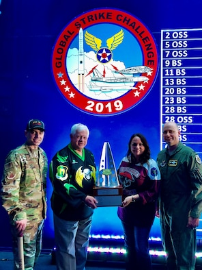 The community of Minot, North Dakota, took home the Barksdale Trophy for the outstanding community support to an AFGSC base during the 2019 Global Strike Challenge scoreposting Nov. 20 at Barksdale Air Force Base, La.