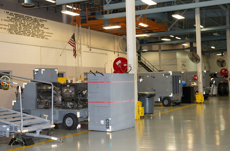 The 55th Maintenance Squadron aerospace ground equipment shop is now fully operational at the Bennie L. Davis Maintenance Facility at Offutt Air Force Base, Neb., Nov. 18, 2019. The AGE shop was displaced to another location on base after their facility received damage during the historical flood earlier this year.
