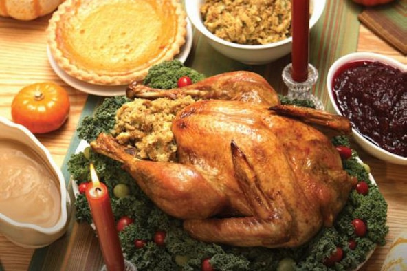 Image of a Thanksgiving dinner.