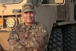 Indiana National Guard Maj. Dan Taylor, 38th Infantry Division deputy personnel officer, at Camp Arifjan, Kuwait, Tuesday, Oct. 15, 2019. Taylor, along with approximately 600 Cyclone Division Soldiers, left the Hoosier State in May to deploy to the Middle East to support Task Force Spartan.