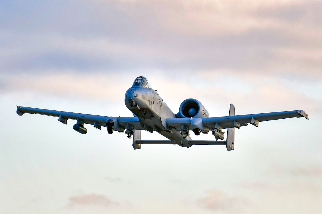 An A-10 Thunderbolt II during a training mission