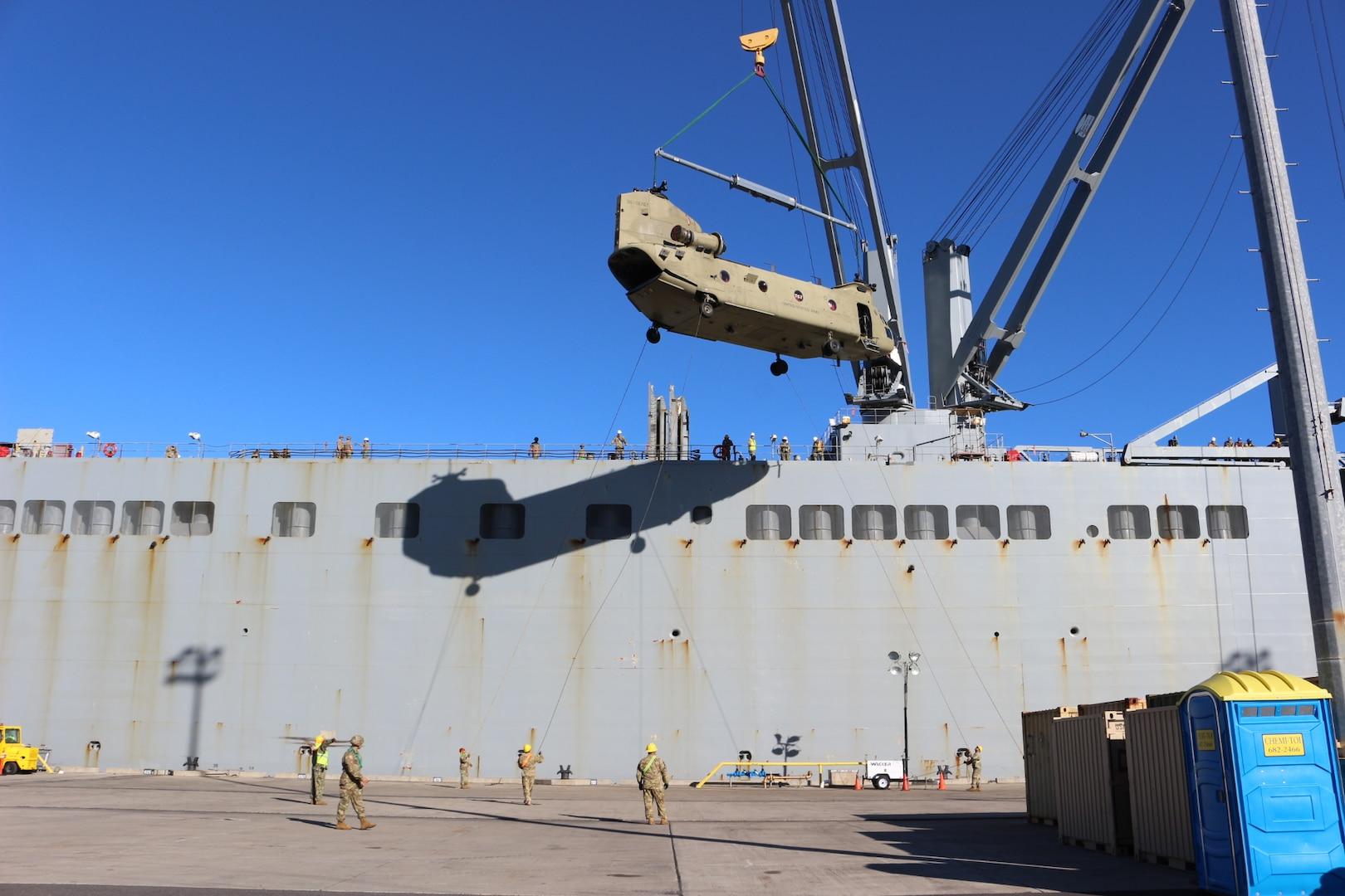 599th Transportation Brigade Facilitates Unit Equipment