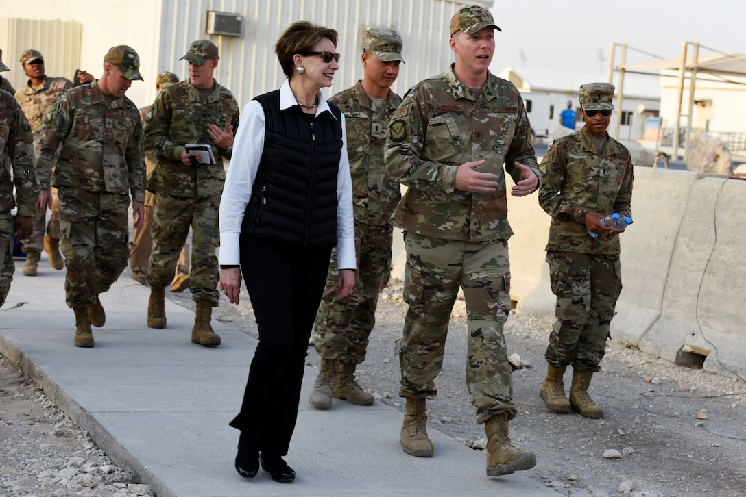 SECAF visits Al Udeid Air Base, Qatar