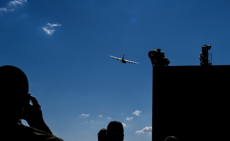 Photo of aircraft in the air.