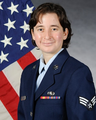 Official photo of SrA Patricia Perez, bassist with Pacific Trends of The United States Air Force Band of the Pacific, Yokota Air Base, Japan