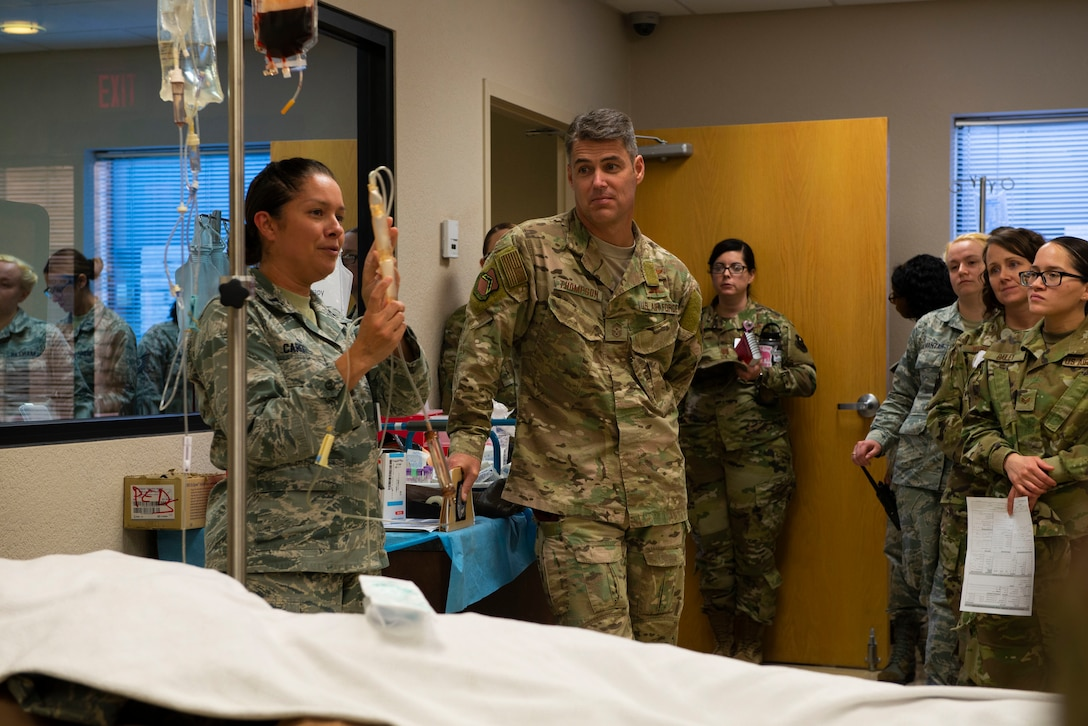 56th FW Command Chief pays visit to medical Airmen