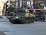 U.S. Army Tank traveling on street